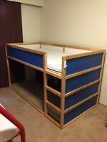 IKEA loft bed -used $75 with mattress