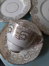 Tea for 2 . English china Inc. Milk jug and sugar bowl