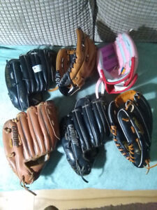 Baseball gloves   a right handed glove just added