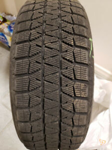 BRIDGESTONE BLIZZAKS WINTER TIRES 205 50 17 AND/OR RIMS FOR SALE