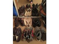 Selection of men's shoes, footwear. Size 9