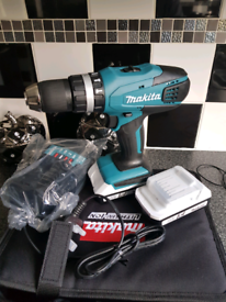 Makita drill with two batteries