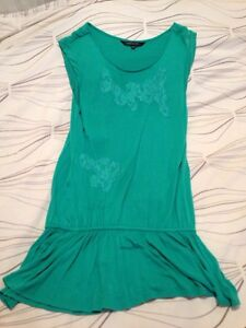 Green beach cover/dress