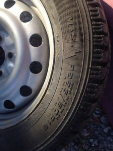 Winter tires and rims off a 2003 Chevy impala  Peterborough Peterborough Area image 2