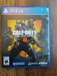 Call of Duty Black ops 4 PS4 with original receipt