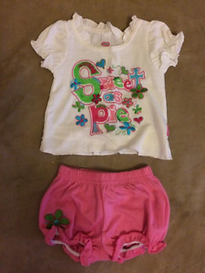 Shorts, Tops and one-piece outfits (size 3-6 months)
