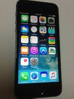iphone 5s noir 16 gb unlocked / déverrouillé 375 $ firm / ferme