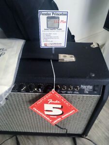 Fender Princeton 112 Plus Guitar Amp & Foot Pedal
