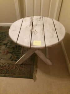 White Wash inside or outside coffee  table.