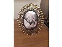 Lovely gold/ copper sparkle photo frame