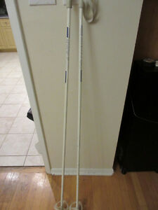 Two Cross Country Ski Poles:  145cm & 110cm with straps