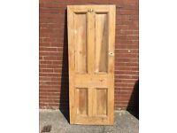 Old pine door