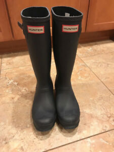 AUTHENTIC NEW GIRL'S/WOMEN'S NAVY HUNTER BOOTS SIZE 6.5