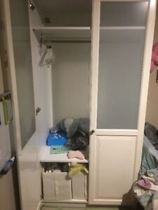 White Wardrobe - Ikea Pax glass door (PRICE DROP)