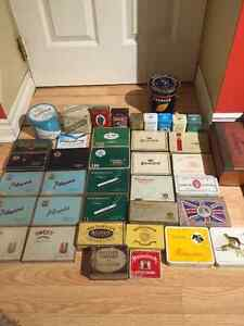 Boites metal antique cigaret, cigar, tabac vintage !!!!!!!