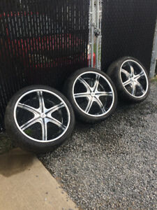 "3 24"" mags with tires"