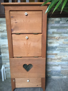 MENNONITE MADE REAL WOOD STORAGE CABINET FOR POTATO,ONION,APPLES