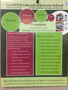 Private School--Credit courses, Tutoring, Full time day school