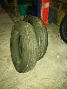 Large trailer tires x 2