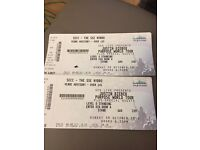 2 x standing Justin Bieber Tickets, Glasgow