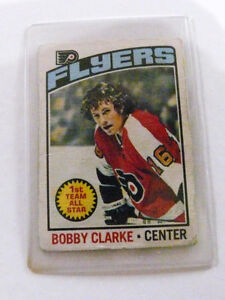 Bobby Clarke O-Pee Chee 1976 Center Flyers 1st Team All Star Car Kitchener / Waterloo Kitchener Area image 1