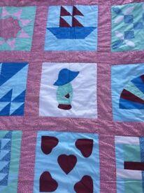 Handmade quilt Sun Bonnet Sue
