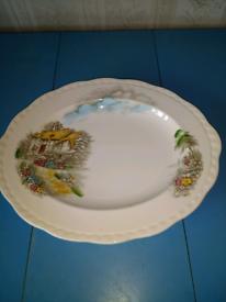 Large Vintage Oval Platter - Alfred Meakin