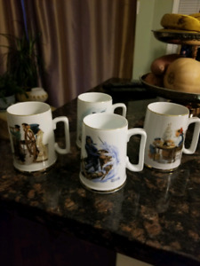 Set of 4, Norman Rockwell, Collectable Mugs