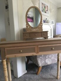 Small dressing table and mirror