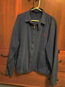 Men's Ralph Lauren Polo, light blue cotton jacket XL