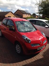 Red Nissan Micra Visia 1.2 Petrol