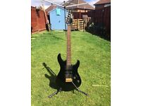 Yamaha electric guitar with stand