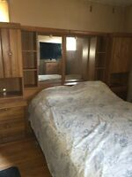 Queen mattress & bed frame for sale
