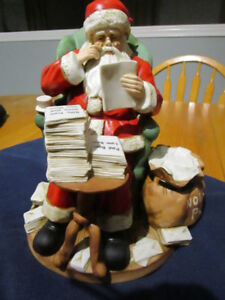 VINTAGE CHRISTMAS MUSICAL CERAMIC SANTA