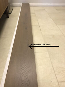Engineered European Oak Floor - $5/sqft