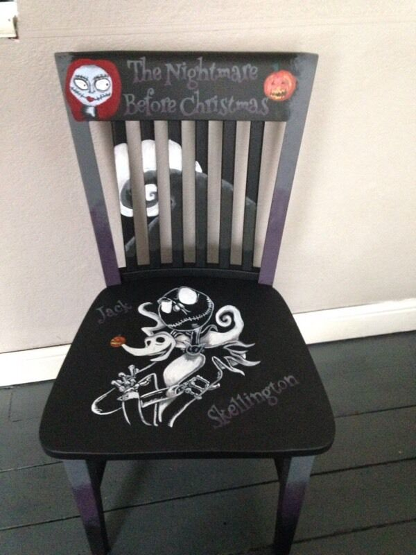 nightmare before christmas hand painted chair - Nightmare Before Christmas Furniture