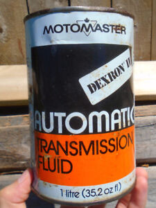 VINTAGE 1970's CANADIAN TIRE MOTOMASTER ATF (1 LITRE) CAN