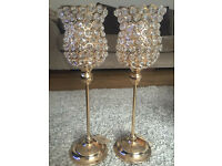 Crystal candle holders for sale