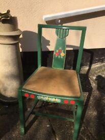 Interesting old waterways chair