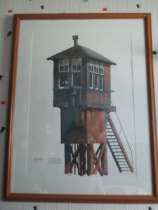 PAINTING OF CPR CROSSING TOWER- ONE OF A KIND London Ontario image 1