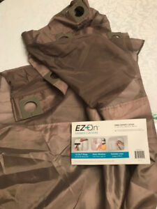 EZ-ON Shower Curtain with liner