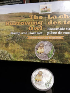 $20 owl coin and stamp set - Royal Canadian Mint