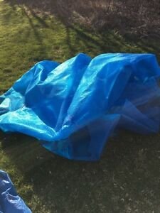 Free 18 foot solar pool cover