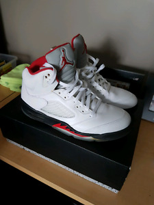 Jordan  retro 5 fire red