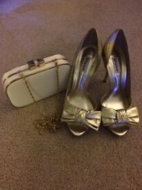 Dune heels size 5 and Accessorize bag