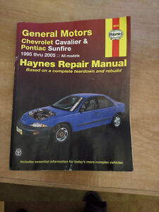 Haynes Repair Manual for 1995 thru 2005 Cavalier & Sunfire