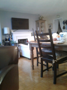 Furnished room in downtown Burlington with full use of place.