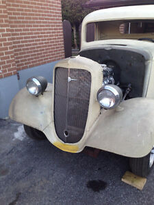 1936 all steel hot rod pick up
