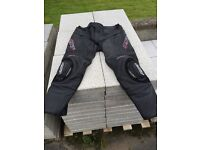 RST razor leather jeans