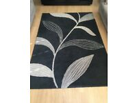 Next Black Leaf Rug